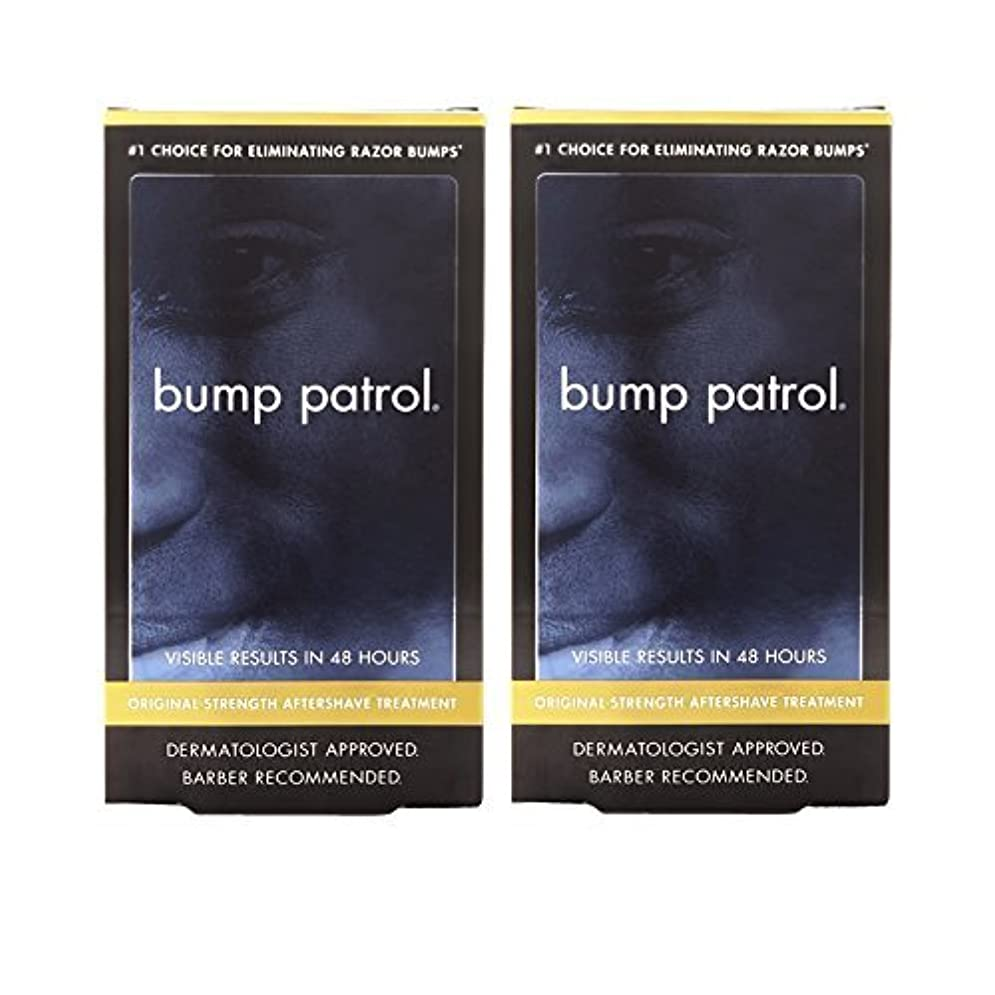不完全な以前はサスペンションBump Patrol Dermatologist Approved Original Strength Aftershave Treatment (2 oz) 2 Pack [並行輸入品]