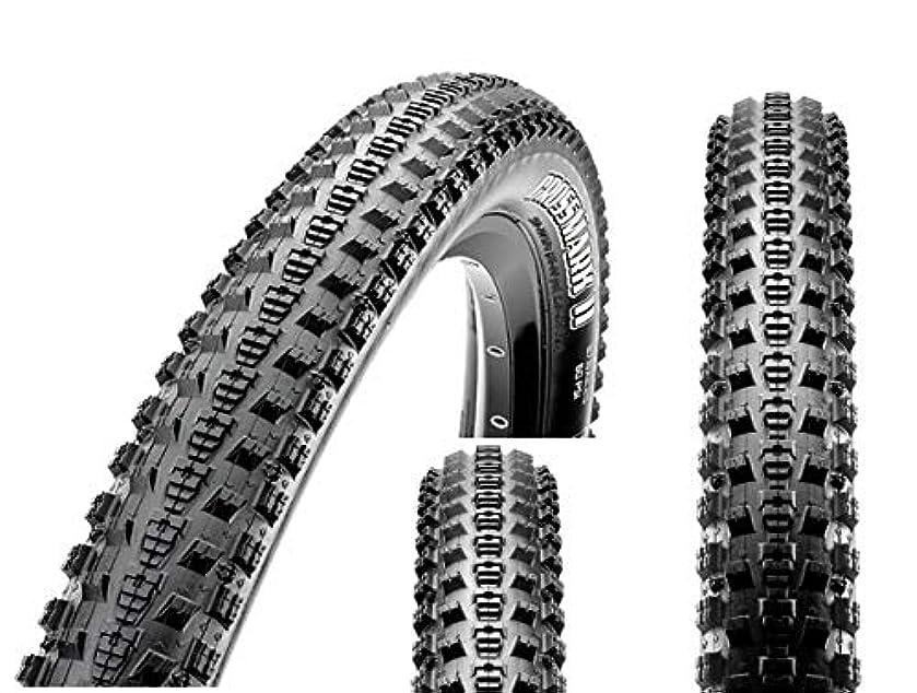 発動機舌なメイト【折畳み可能】マキシス MAXXIS MTB 軽量タイヤ 510g クロスマークII CROSSMARK II 26X1.95 26インチ用★自転車 自転車パーツ