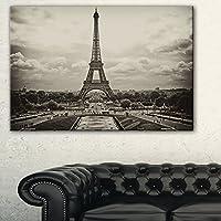 "DesignArt pt93372012ヴィンテージビューのパリ、フランス都市景観写真キャンバス 20x12"" ブラック PT9337-20-12"