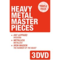 へヴィ・メタル・マスターピース~「デフ・レパード/ヒステリア」+「メタリカ/メタリカ(ブラック・アルバム)」+「アイアン・メイデン/魔力の刻印」《トリプルパック・シリーズ》