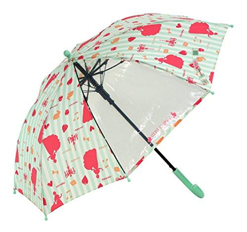[해외]아테인 KIDS 용 점프 우산 투명 창 부착 섬유 뼈 사용 친뼈 50cm 프린세스 그린 1285/Atein KIDS jump umbrella with transparent window fiberglass bone use ribs 50 cm Princess Green 1285