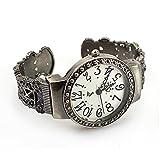 Amazon.co.jpアンティーク調/レトロ  古典的なレディース/女性のブレスレットバングル腕時計 ピアススタイルウォッチ