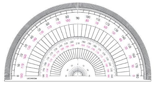 ウチダ 半円分度器 18cm 1-822-0104