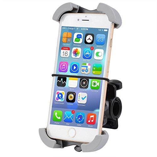 Deallink 自転車ホルダー 自転車 スマホ ホルダー バイク用ホルダー3.5インチから7インチまで対応可能 保護バンド付 iPhone Android多機種対応 Deallink