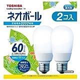 東芝 電球形蛍光灯 ネオボール 60WタイプA形 3波長形昼光色 2個入り EFA15ED/11-E-2P