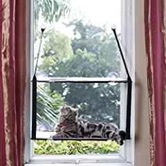 LS 2018 猫ベッド ウィンドウ ハンモック キャットハンモック 窓台 ちゃんハンモック 2階式 吸盤 窓取り付けタイプ ペットベッド ネコ ねこハンモック キャット モック(二層,グレー)