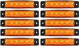 Passion list LED サイドマーカー トラック 角形 6連 オレンジ