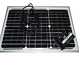 ZERO com●30Wセット コード付き 防水 セット/30Wソーラーパネル単結晶(12V)+10Aチャージコントローラー(12V/24V兼用)バッテリー充電 太陽光発電 船・車