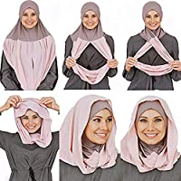 Cotton and Shiffon headscarf, instant hijab, ready to wear hijab for women by VeilWear