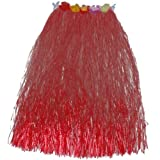 【ノーブランド 品】トロピカル ハワイ フラ ダンサー スカート 80センチメートル 赤