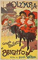 オリンピア–ブライトンヴィンテージポスター(アーティスト: Paleologue )フランスC。1893 16 x 24 Giclee Print LANT-60870-16x24