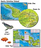 Franko Maps Santa Catalina Island Map for Scuba Divers and Snorkelers by 699