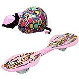 ラングスジャパン(RANGS) リップスティックデラックスミニ ラングスジュニアスポーツヘルメット プロテクター付 セット ピンク