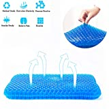 Gel Seat Cushion, Office Chair Seat Cushion Cooling Egg Seat Cushion Chair Pads with Non-slip Cover,Durable,Comfortable,Breathable,Pressure Relief ,Sciatica Cushion for Home Office Chair Car Wheelchair Truck