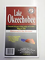 湖Okeechobee防水Contourマップfor釣り、Boating and recreationマップNo。334