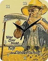 Bier trinkt LandwirtschaftフラットメタルウォッチNew 20x26cm VU588-1