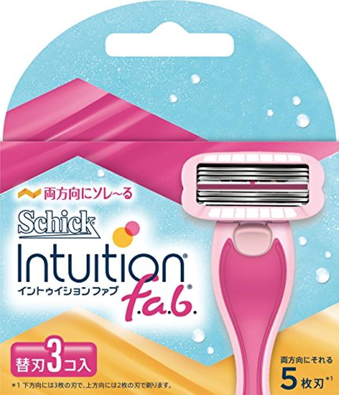 薬用凍結シールシック Schick イントゥイション ファブ 替刃 (3コ入) 女性 カミソリ