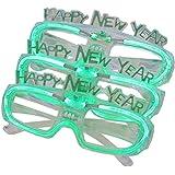 BESTOYARD パーティー用メガネHAPPY NEW YEARライティング用メガネ2019年パーティーの魅力 - ランダムカラー3本