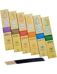 神戸アールティー インド お香 6種類 セット スティック インセンス