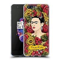 Official Frida Kahlo ポートレート・パターン レッド・フローラル ソフトジェルケース OnePlus 5