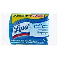 Lysolマルチ用途防臭保証Scrubber Sponges、4pk