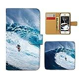 Tiara iPhone7 (4.7) iPhone7 スマホケース 手帳型 サーフィン サーファー 波 海 スポーツ 手帳ケース カバー [E026804_03]