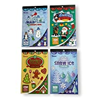 Christmas Sticker Books with Assorted Christmas Characters - 4 Book Set [並行輸入品]