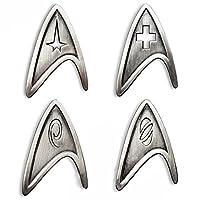 STAR TREK コスプレ用ブローチ スターフリート メタルバッジ レプリカ US サイズ: 4.5x3cm