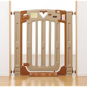 日本育児 ベビーゲート スマートゲイトII プラス 6ヶ月~24ヶ月対象 階段上で使える両開き・片開き選択式のベビーゲート