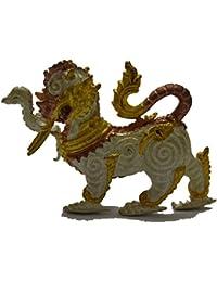 ジュエリーギフトペンダントタイsinghaa Amulet Talisman Lp KEE Wat Sri Raamyong Phraya Cod Cha See Statue Wealth Rich Luck Happy...