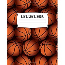 Live Love Hoops: Basketball 100 + Fun Activities   Ready to Play Paper Games & Blank Storybook Pages for Kids   Hangman, Tic Tac Toe, Four in a Row, ... Cover   Creative Road Trip Entertainment