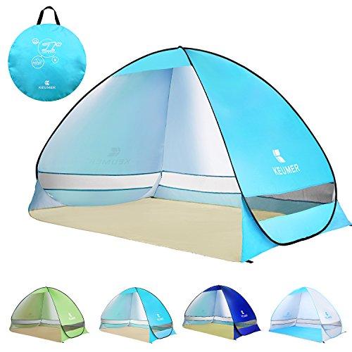 ワンタッチテント 欧米熱売 4色 ポップアップテント 3~4人用 BATTOP サンシェードテント 95%UVカット 防水&通気 キャンプテント ビーチテント アウトドア コンパクト インスタント自動開く 収納バッグ付き (ブルー)