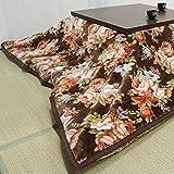 メーカー直販 ニューマイヤー大判 家族毛布 こたつ中掛兼用(花柄) 正方形 200×200cm