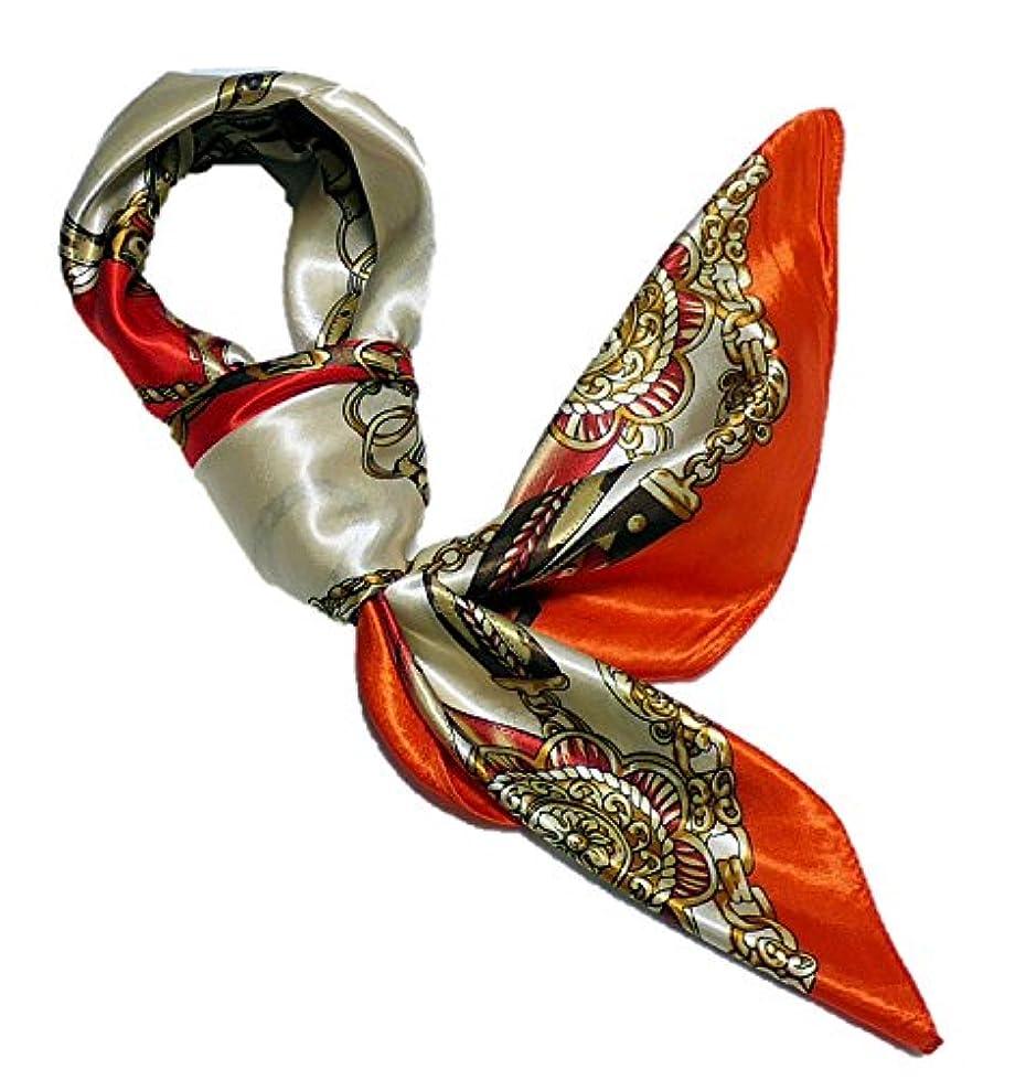 はがきポイント傾く華麗な高級シルク調スカーフ 90角正方形大判レディース スカーフ 贈り物 ギフト人気な花柄 スカーフ