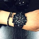 ZooooM クロノグラフ ミリタリー デザイン アナログ 腕 時計 ファッション アクセサリー フォーマル カジュアル ビジネス メンズ レディース 男性 女性 男 女 兼 用 ( ブラック ) ZM-WATCH2-1004-BK