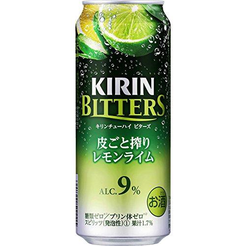 キリンチューハイ ビターズ 皮ごと搾りレモンライム 500ml...