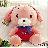 HuaQingPiJu-JP ウサギソフトおもちゃ50cmウサギの枕ぬいぐるみウサギぬいぐるみソフトおもちゃの贈り物(ピンク)