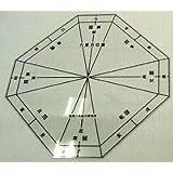 気学方位盤 147mm×147mm(0.5mm厚) 八方位(30×60度)