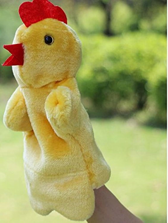 ychoice面白いFinger Puppetsおもちゃソフトぬいぐるみベロア動物Hand PuppetsグローブTellingストーリーDolls Toys ( Hen )