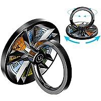 スマホ リング ホールドリング バンカーリング 薄型 指スピナー ストレス解消 落下防止 360度回転 水洗い 粘着力抜群 スタンド機能 iPhone/Android各種対応 I.Lux