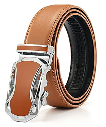 (エイチダブリュー ゾーン) HW ZONE ベルト メンズ 革 ブランド サイズ調整可能 レザー ビジネス プレゼント 就職祝い 紳士ベルト 革ベルト 進学祝い ギフト (ウェスト:75-95CM, ブラウン)