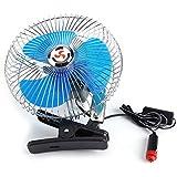 Tiktok 車載扇風機 クリップ 180度回転 送風機 ファン ミニ 12V 25W 低騒音 小型 持ち運び便利 熱中症対策