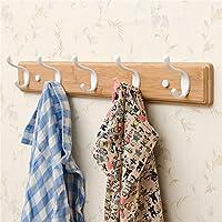 ALUP- 壁掛け用壁掛け用壁掛けバスルーム用壁掛け用掛け布団用掛け掛け用壁掛け用壁掛け - コートラック/コートフック (色 : 木の色, サイズ さいず : 5 hook)
