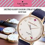 ケイトスペード メトロ Metro ハッピーアワー レディース 腕時計 KSW1040 ホワイト/ネイビー [並行輸入品]