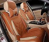 (ファーストクラス)FirstClass カーシートカバー 汎用 ビスコース PUファブリック フロント リアカバー フルセットクッション オレンジ 8pcs