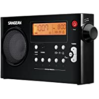 Sangean PR-D7 BK AM/FM Digital Rechargeable Portable Radio - Black 並行輸入
