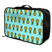 レッドカラー パイナップル 上下逆 ボストンバッグ キャリーオンバッグ ガーメントバッグ 手提げ 鞄 バッグ ハンドバッグ 旅行 男女兼用 機内持込可 収納整理 折りたたみ トラベルバッグ フォールディングバッグ