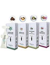 Body&Co Cosmetic Mix 4 Refills 10 ml: Caffeine, Argan Oil, Macadamia Oil, Rosa Mosqueta Oil