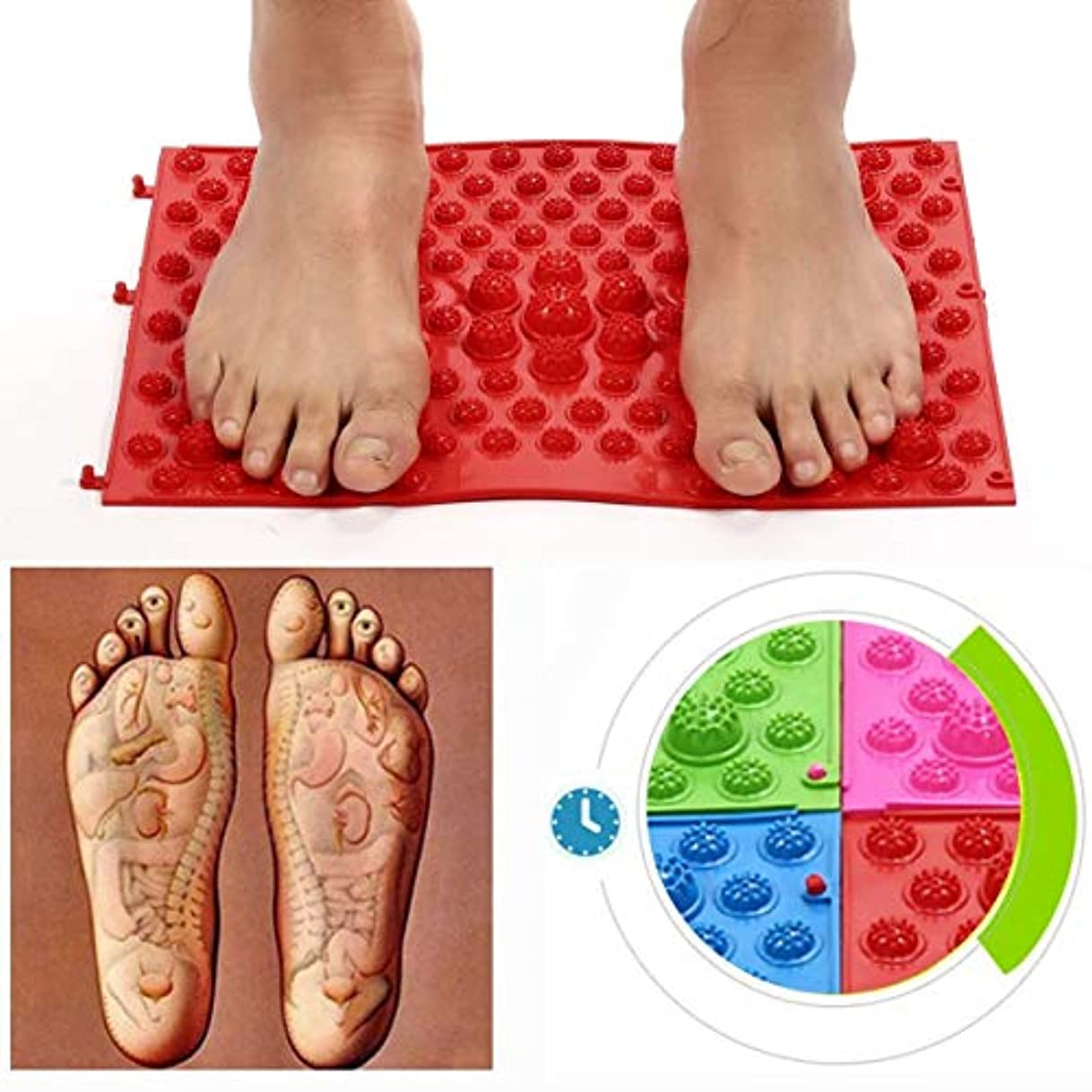テメリティがっかりする剣Acupressure Foot Mats Running Man Game Same Type Foot Reflexology Walking Massage Mat for Pain Relief Stress Relief...