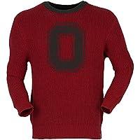 NCAA Ohio State BuckeyesユニセックスMalibuクルーネックセーター、赤、L